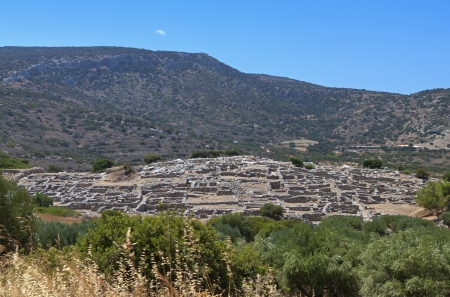 minoan: Ancient minoan settlement of Gournia at Crete island in Greece Stock Photo