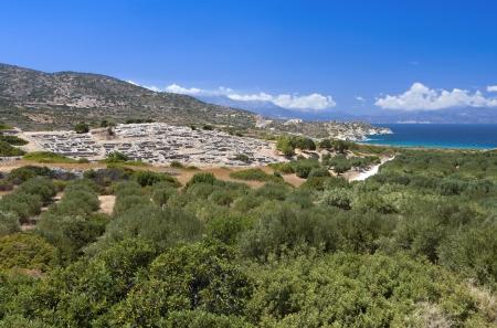 Antiguo asentamiento minoico de Gournia en la isla de Creta en Grecia Foto de archivo - 16516247