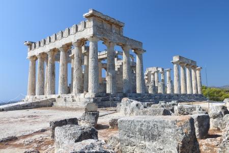 Temple of Aphaea Athina at Aegina island in Greece