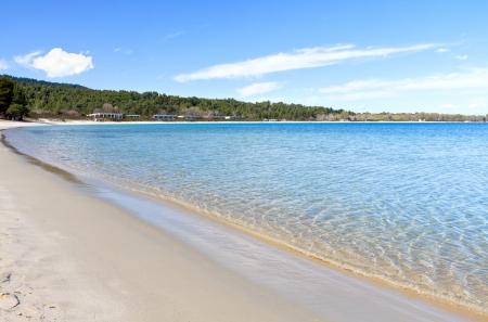 Koursaros beach at Kassandra of Halkidiki in Greece