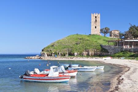 Nea Fokea summer resort at Halkidiki in Greece Stock Photo