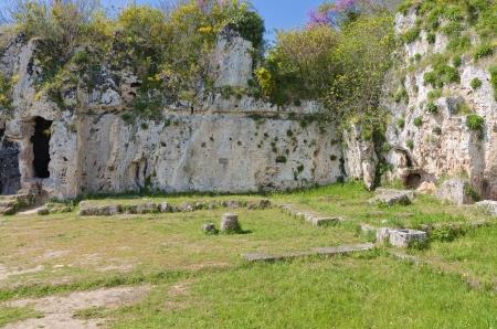 ancient greek: Aristoteles ancient school in Greece Stock Photo