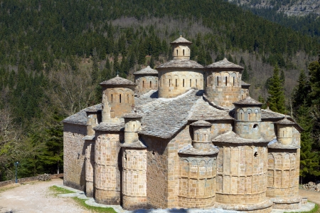 Monastery of Timios Stavros at Doliana village of the Pindos mountains in Epirus, Greece photo