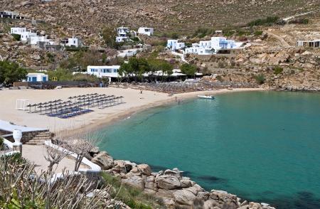 Super Paradise beach at Mykonos island in Greece