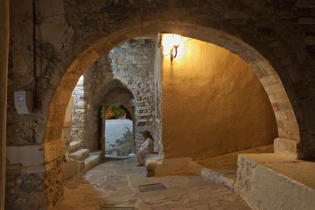 naxos: the castle of Naxos island in Greece Stock Photo