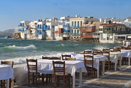 Mykonos island in Greece, Area of the small Venice
