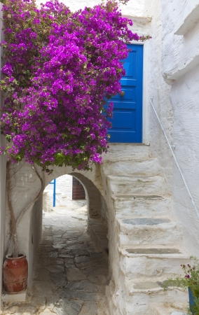 kyklades: The medieval town of Naxos island in Greece Stock Photo