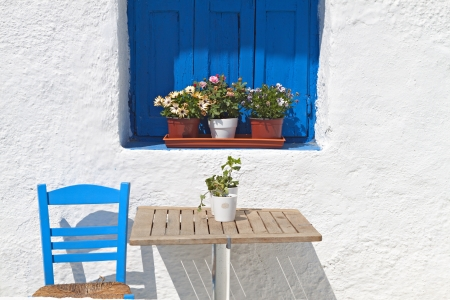Traditional Greek house photo