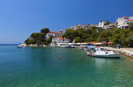 skiathos: Skiathos island in Greece  View of the old port
