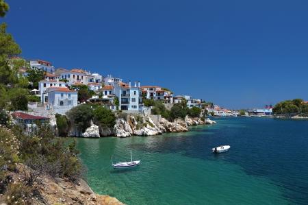 skiathos: Skiathos island in Greece  View of Plakes area