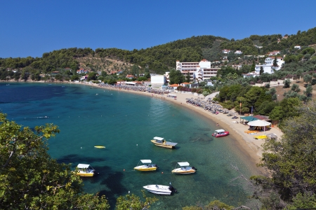 Achladies beach at Skiathos island in Greece
