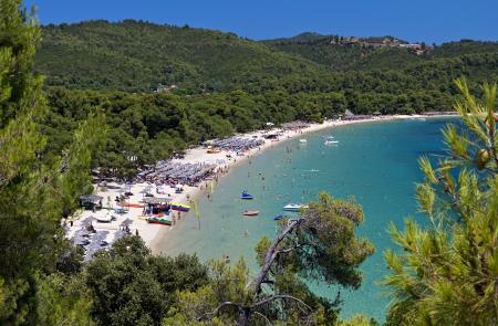 Koukounaries beach at Skiathos island in Greece