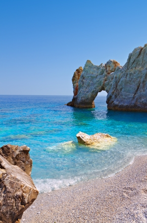 Lalaria beach at Skiathos island in Greece