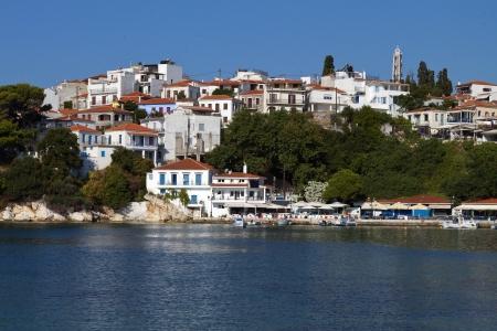 skiathos: Skiathos island in Greece  View of Plakes area Stock Photo