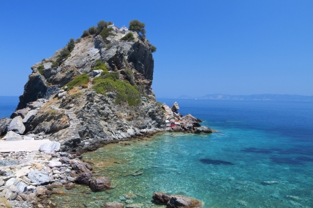 Agios Ioannis chapel at Skopelos island in Greece