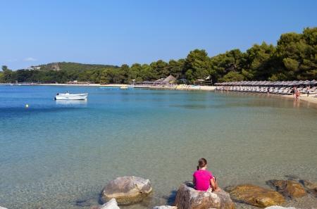 skiathos: Koukounaries beach at Skiathos island in Greece