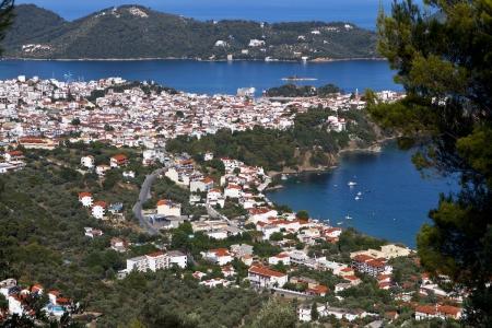 skiathos: Capital city and port of Skiathos island in Greece