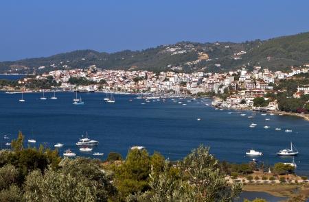 skiathos: Skiathos island in Greece  View of the harbor Stock Photo