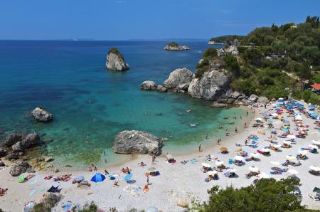 ionio: Piso Kryoneri beach near Parga in Greece