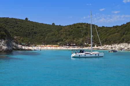 ionio: Voutoumi bay at Antipaxos island in Greece