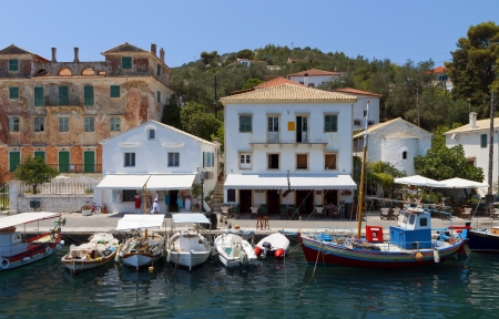 Gaios port at Paxos island in Greece  Ionian sea photo