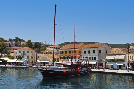 kerkyra: Gaios port at Paxos island in Greece  Ionian sea