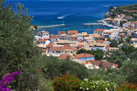 Gaios bay at Paxos island in Greece  Ionian sea photo