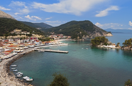 ionio: Parga town and port near Syvota in Greece