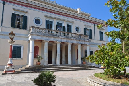 repo: Mon Repo palace at Corfu island in Greece