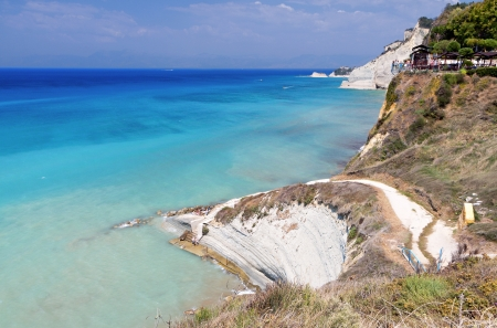 Logga coast and beach at Corfu island in Greece photo