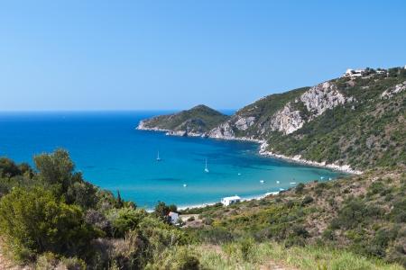 Saint George coast at Corfu island in Greece