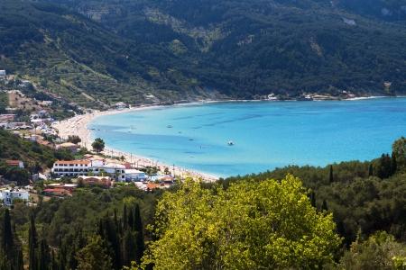 ionio: Saint George beach at Corfu island in Greece