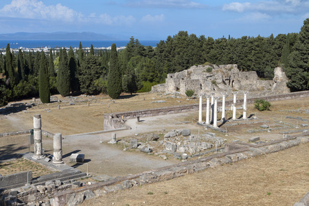 hippocratic: Ancient Asclepio at Kos island in Greece