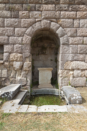 hippocratic: The sanctuary of Asklepius (Asklepieion or Asclepio) at Kos island in Greece Stock Photo