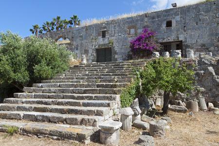 templars: The Saint John Knights castle (or Nerantzia) at Kos island in Greece