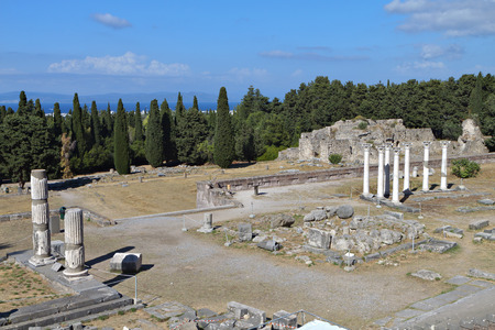 hippocrates: The sanctuary of Asklepius (Asklepieion or Asclepio) at Kos island in Greece.