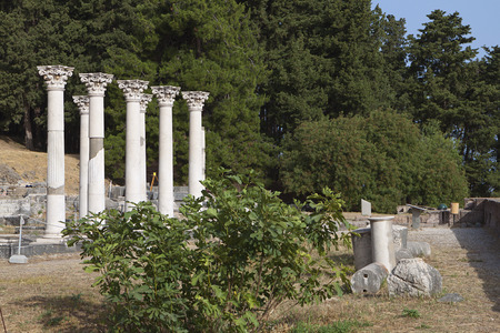 hippocratic: The sanctuary of Asklepius (Asklepieion or Asclepio) at Kos island in Greece.
