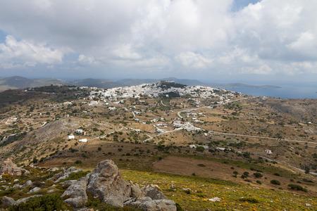 chora: El Chora en la isla de Patmos en Grecia Foto de archivo