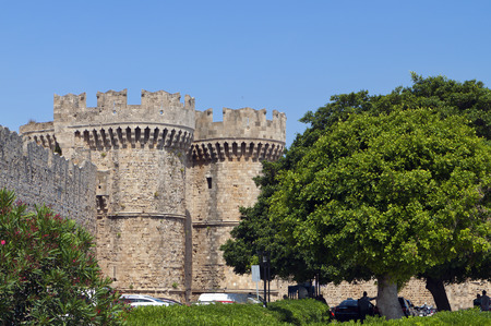 templars: Castle of Saint John at Rhodes island in Greece