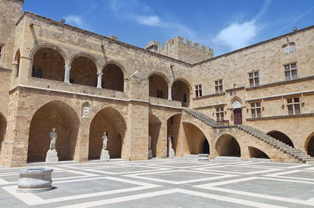 templars: Palace of Grand Master at Rhodes island in Greece