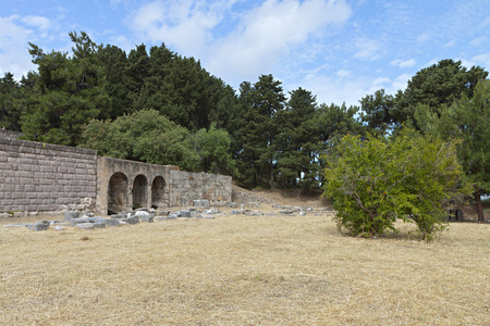 Ancient site of Asclepio at Kos island in Greece  photo