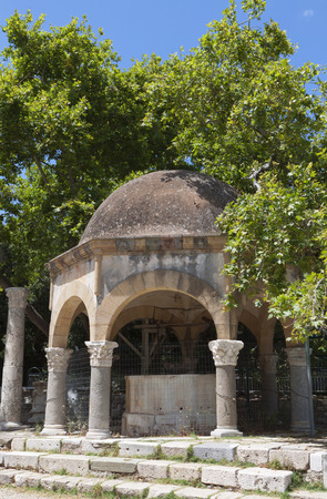 hippocrates: The tree of Hippocrates at Kos island in Greece