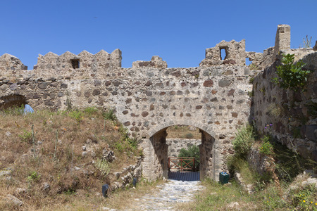 templars: Castle of Antimachia at Kos island in Greece