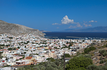 dodecanese: Kalymnos island at Dodecanese in Greece Stock Photo