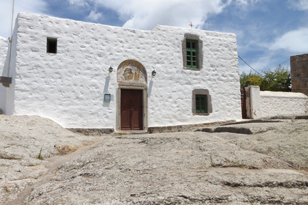 Monastery of Apocalypse at Patmos island in Greece
