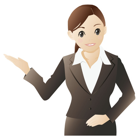 人ガイドの実業家  イラスト・ベクター素材