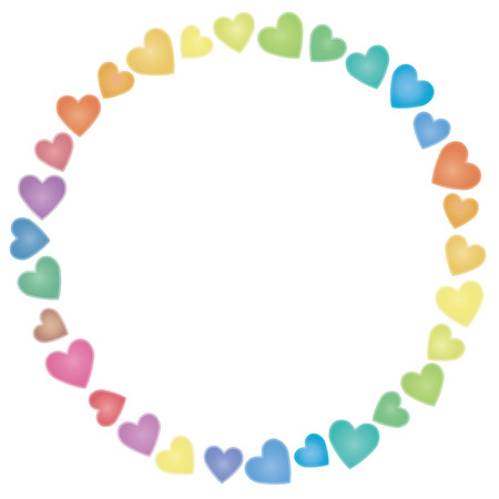 pastel shades: The frame of the heart