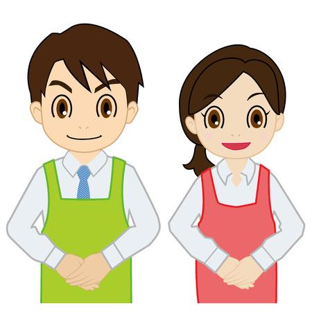 salesperson: salesperson of stand straight