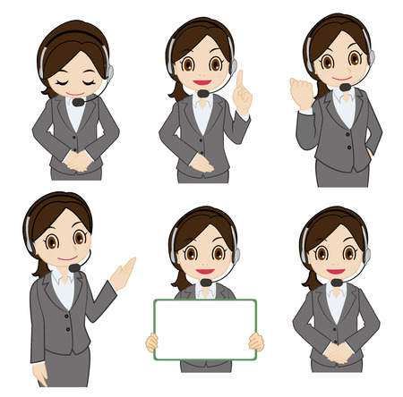 clench: Movement of female operator Illustration