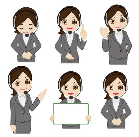 Movement of female operator Vettoriali